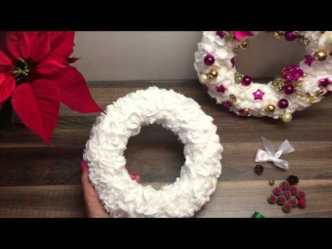diy t rkranz adventskranz basteln deko f r weihnachten oder als geschenk youtube. Black Bedroom Furniture Sets. Home Design Ideas