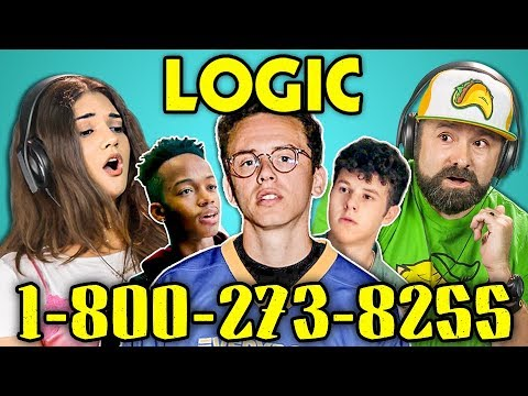 ADULTS REACT TO LOGIC - 1-800-273-8255