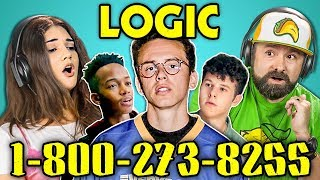 ADULTS REACT TO LOGIC - 1-800-273-8255 thumbnail