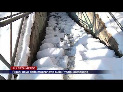 Etg - Allerta meteo, rischio neve dalla mezzanotte sulle Prealpi comasche