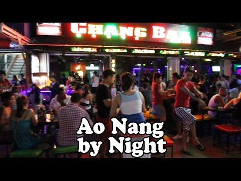 Ao Nang Nightlife 2015. Ao Nang Krabi Thailand by Night. Restaurants, Bars, Shopping & Street Food