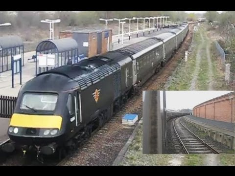 UK: Paxman Valenta powered Grand Central High Speed Trains (Class 43 HST) Intercity 125, NE England