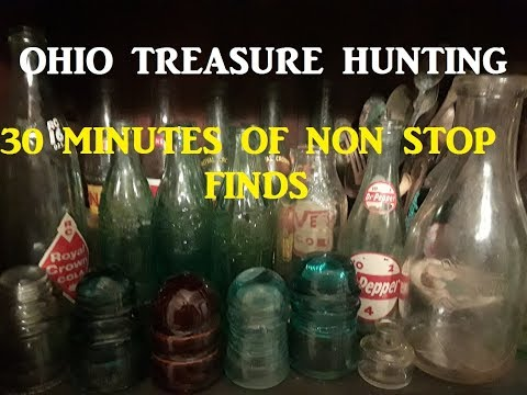 30 Minutes of Finds Ohio Treasure Hunting Archaeology Arrowhead Bottle Digging History