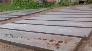 concrete fence panel making process diy