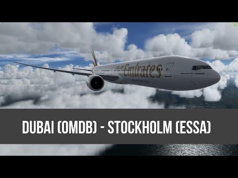 [P3D] UAE157 | Dubai - Stockholm | PMDG 777-300ER