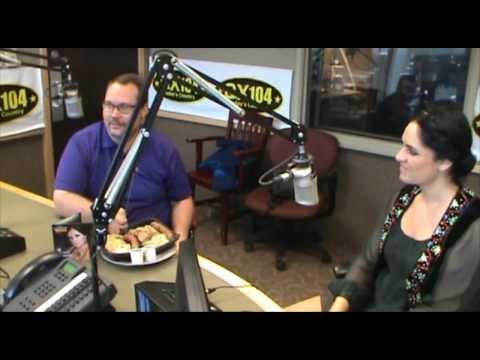 Marta Shpak at QX104 FM radio in Winnipeg (Monitoba, Canada) tells about Spirit of Ukraine Pavilion