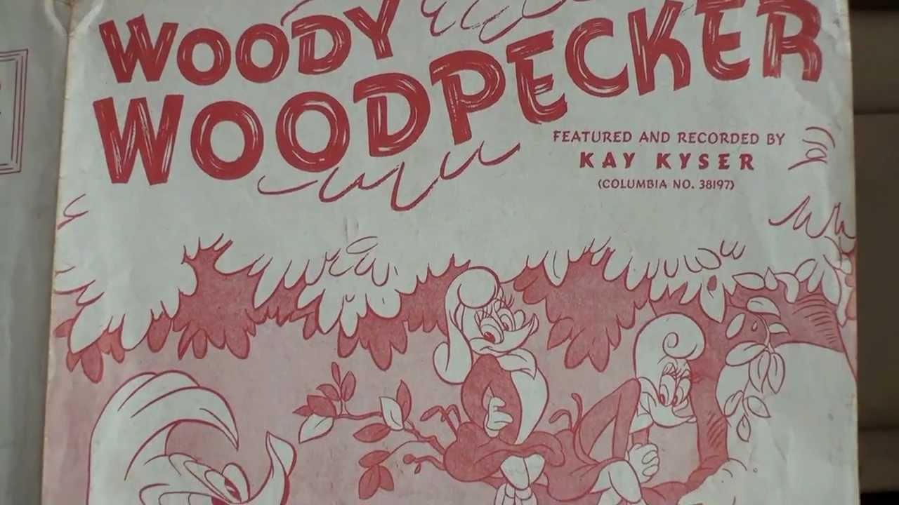 1948 Woody Woodpecker song sheet music - YouTube