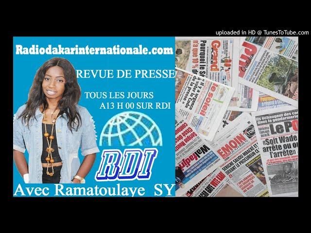 Revue de presse RDI du 26 Avril 2018  présentée par Ramatoulaye Sy