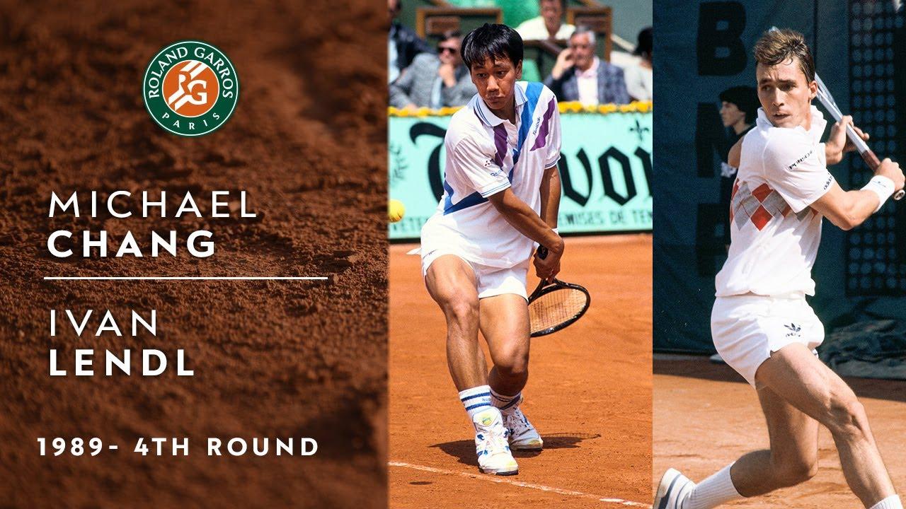 Michael Chang vs Ivan Lendl - 4th round | Roland-Garros 1989 - YouTube