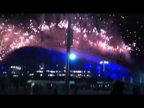 Sochi fireworks at opening ceremonies