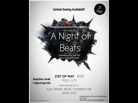 2021 William Fleming High School Electronic Music Concert: A Night of Beats