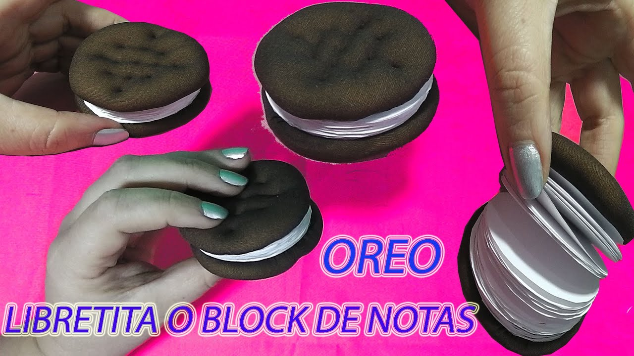 how to make oreo notebook diy chocolate sandwich cookies notebook tutorial youtube