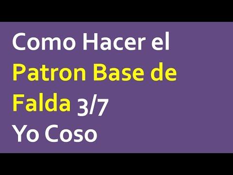 09d513dc8 Como hacer el patron base de falda 3/7 - YouTube