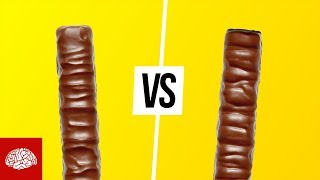 Rechtes vs. linkes Twix