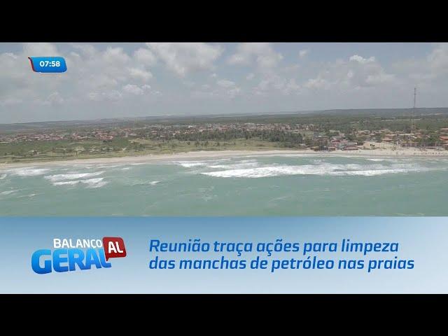 Reunião traça ações para limpeza das manchas de petróleo nas praias