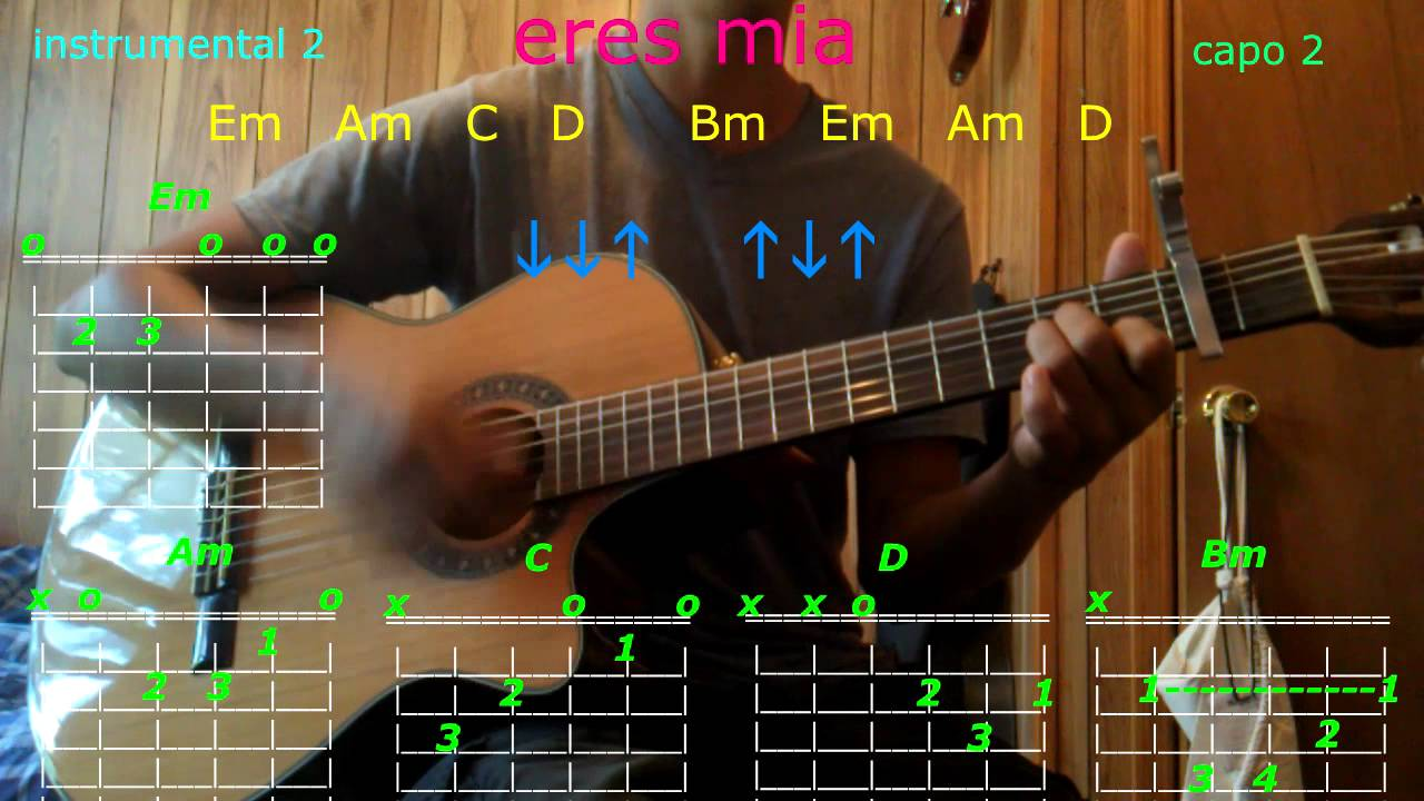 Eres Mia Romeo Santos Guitar Chords Youtube