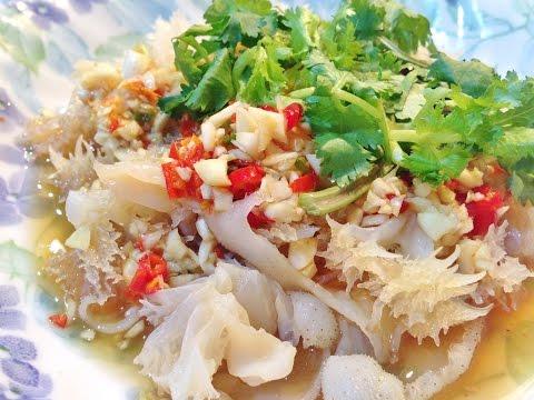 How To Cook Jellyfish Spicy Salad : แมงกระพรุนพริกมะนาว