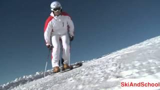 ★Карвинг Лыжи★ Урок 20 1 Укол палкой в горных лыжах