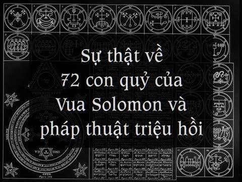 PHÉP THUẬT CỦA VUA SOLOMON - BÍ ẨN TRIỆU HỒI 72 CON QUỶ