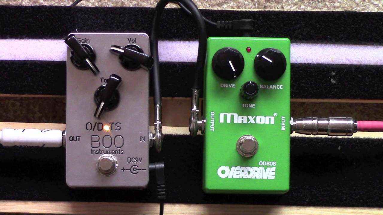 Boo Instruments O/D TS Overdrive Tube Screamer Clone Vs Maxon OD 808