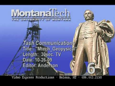 Montana Tech Geophysical engineering