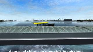 Ship Simulator 2008, demonstration of new things in version 1.1 [HQ]