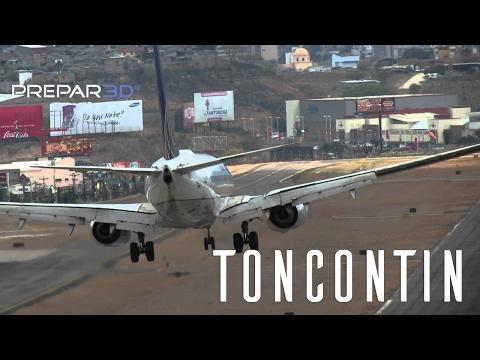 Prepar3D - PMDG 737 - Landing at Toncontin - RNAV Rwy 02