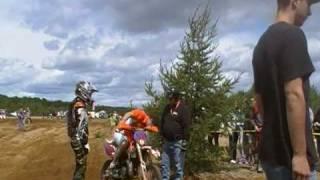 Moto tombée, moteur noyé - Enduro - St-Michel des Saints - 2009