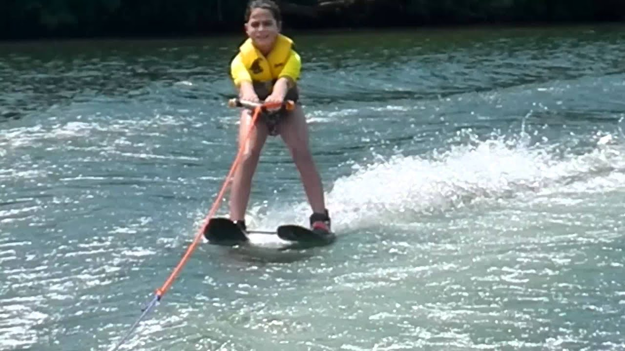 7 Year Old Does Major Face Plant While Water Skiing On