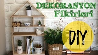 Ev Şeklinde Raf Yapımı / Oda Dekorasyon / KENDİN YAP / DIY