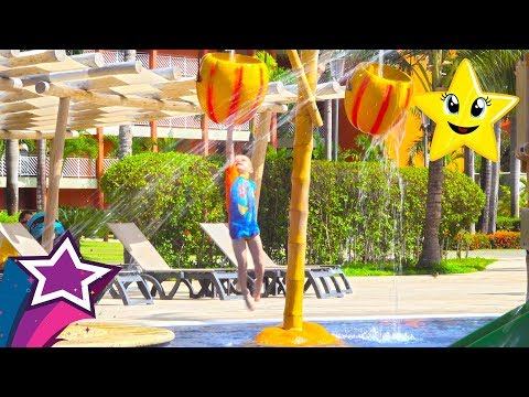 New Water Playground on our Vacation in Barcelo Bavaro Resort For Kids and Family Punta Cana
