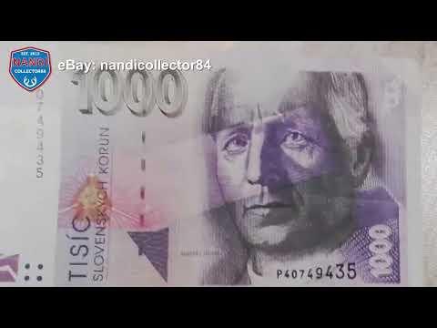 Colorful Slovakia 1000 Korun banknote (2002)