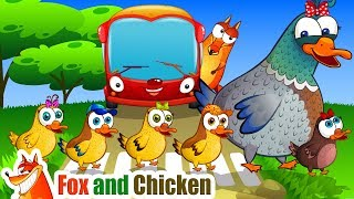 The Wheels On The Bus   Bus Song   Nursery Rhymes & Kids Songs by Fox and Chicken