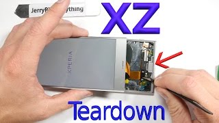 xperia xz screen repair battery replacement complete teardown