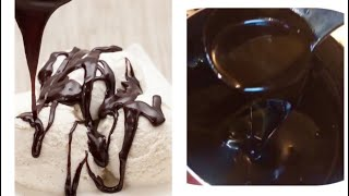 Chocolate sauce / Chocolate Syrup home made recipe by RJ Kitchen