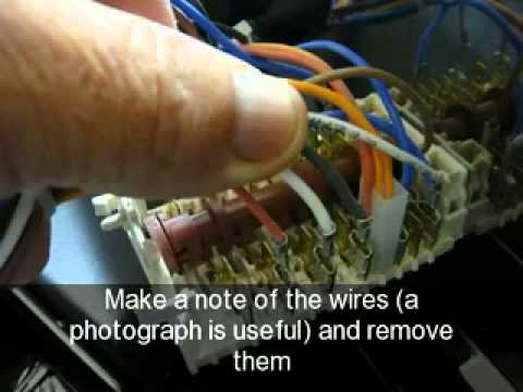How to change the oven function switch on an oven, Ariston, Creda, Hotpoint, Indesit  YouTube