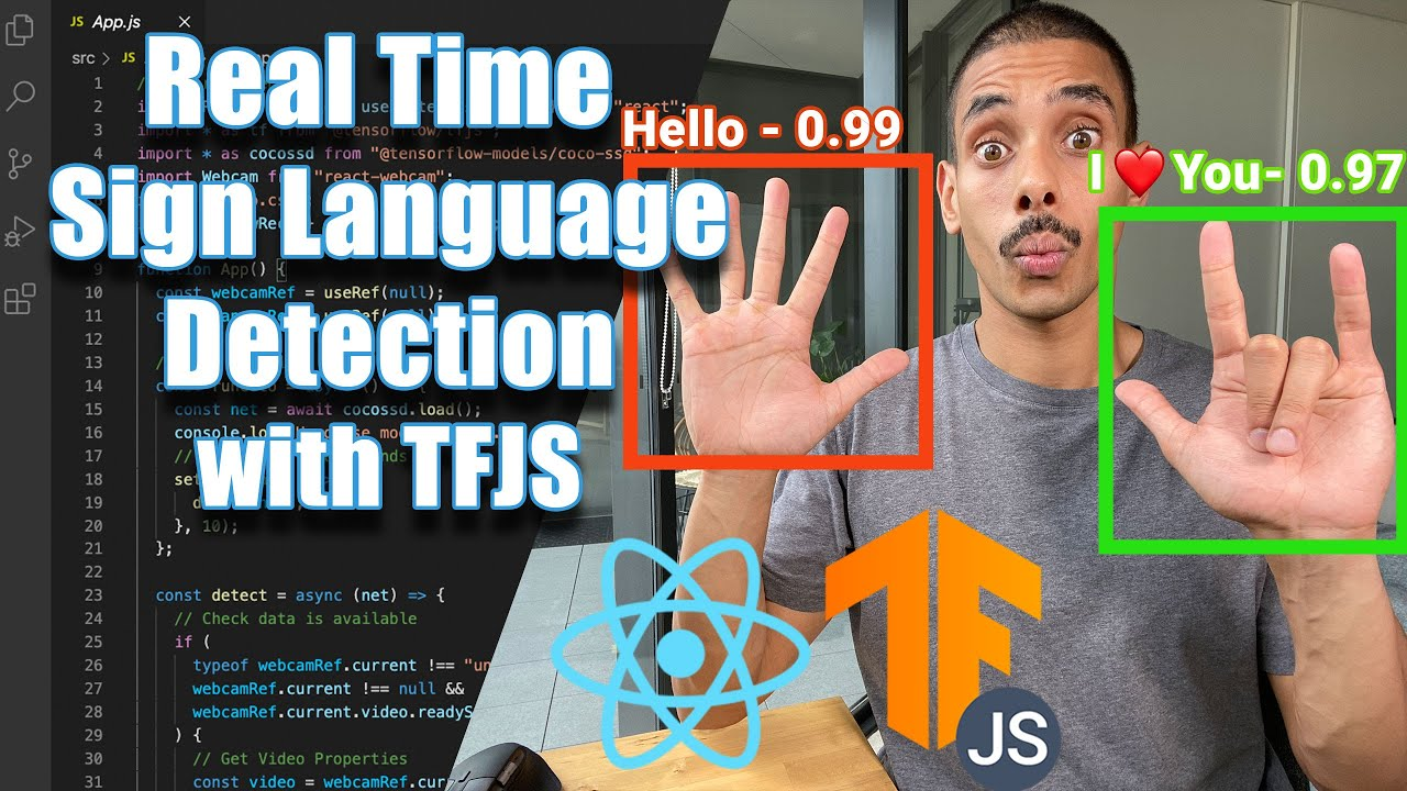 Building a Real Time Sign Language Detection App with React.JS and Tensorflow.JS