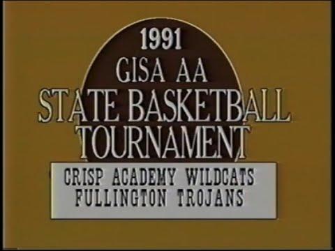 1991 GISA CLASS AA BASKETBALL QUARTERFINAL: Crisp Academy Wildcats vs Fullington Academy Trojans