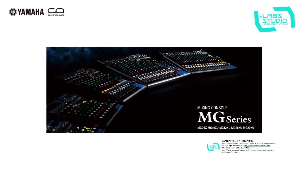 Yamaha Mg Series Xu Model How To Connect Mixer Pc With Usb Mg16xu For Mg20xu Mg12xu