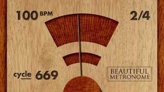100 BPM 2/4 Wood Metronome HD