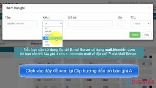 Phần 7: Hướng dẫn cấu hình bản ghi MX để sử dụng Email