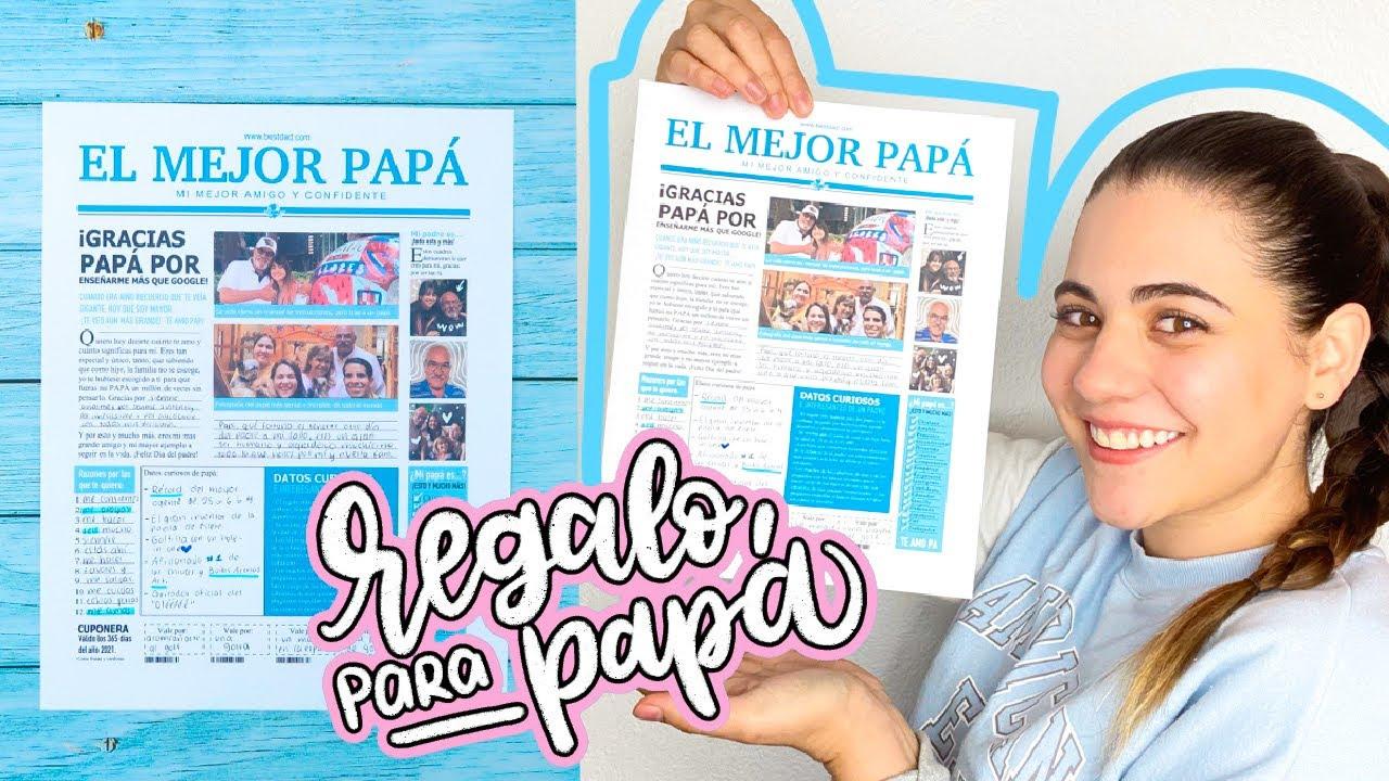 REGALO de ÚLTIMA HORA para PAPÁ!! (Plantilla GRATIS!) ✄ Barbs Arenas Art!