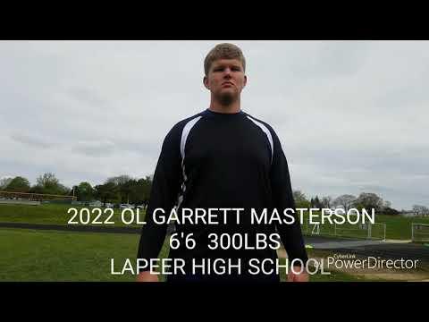 2022 OL Garrett Masterson 6'6 300lbs Lapeer High School,  MI