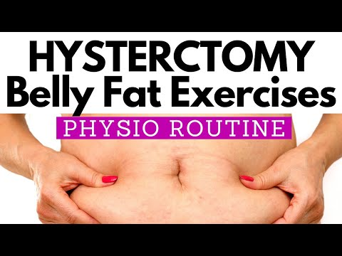 Abdominal Exercise after Hysterectomy to REDUCE BELLY FAT | PHYSIO Guided 10 MINUTE Home Routine