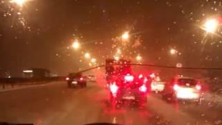 Как началась непогода 11.11.2016,  трасса М-2 - МКАД Москва-Тула & Тула-Москва