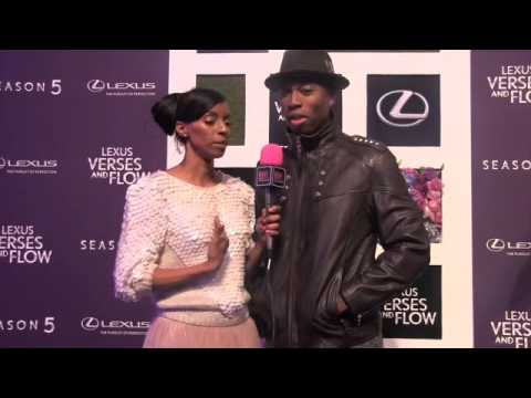 Robbie Jones from Tyler Perry's Temptation chats with Madison Chase for Lexus Verses and Flow