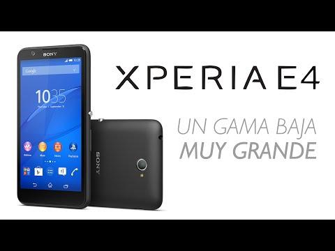 Sony Xperia E4: Móvil Gama Baja y Alternativa al Moto E (2015)