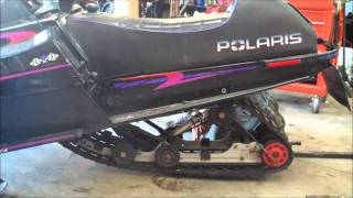 how to rear suspension removal snowmobile