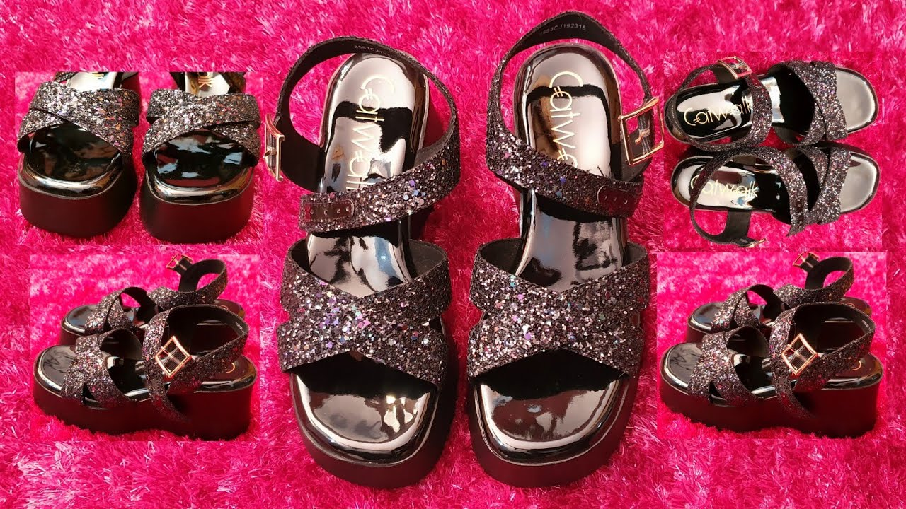 Catwalk Women Black Embellished Sandals Review Comfortable And Stylish Bridal Footwear Rara Youtube