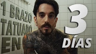 Pierna tatuaje y de dermablend cuerpo de imprimación